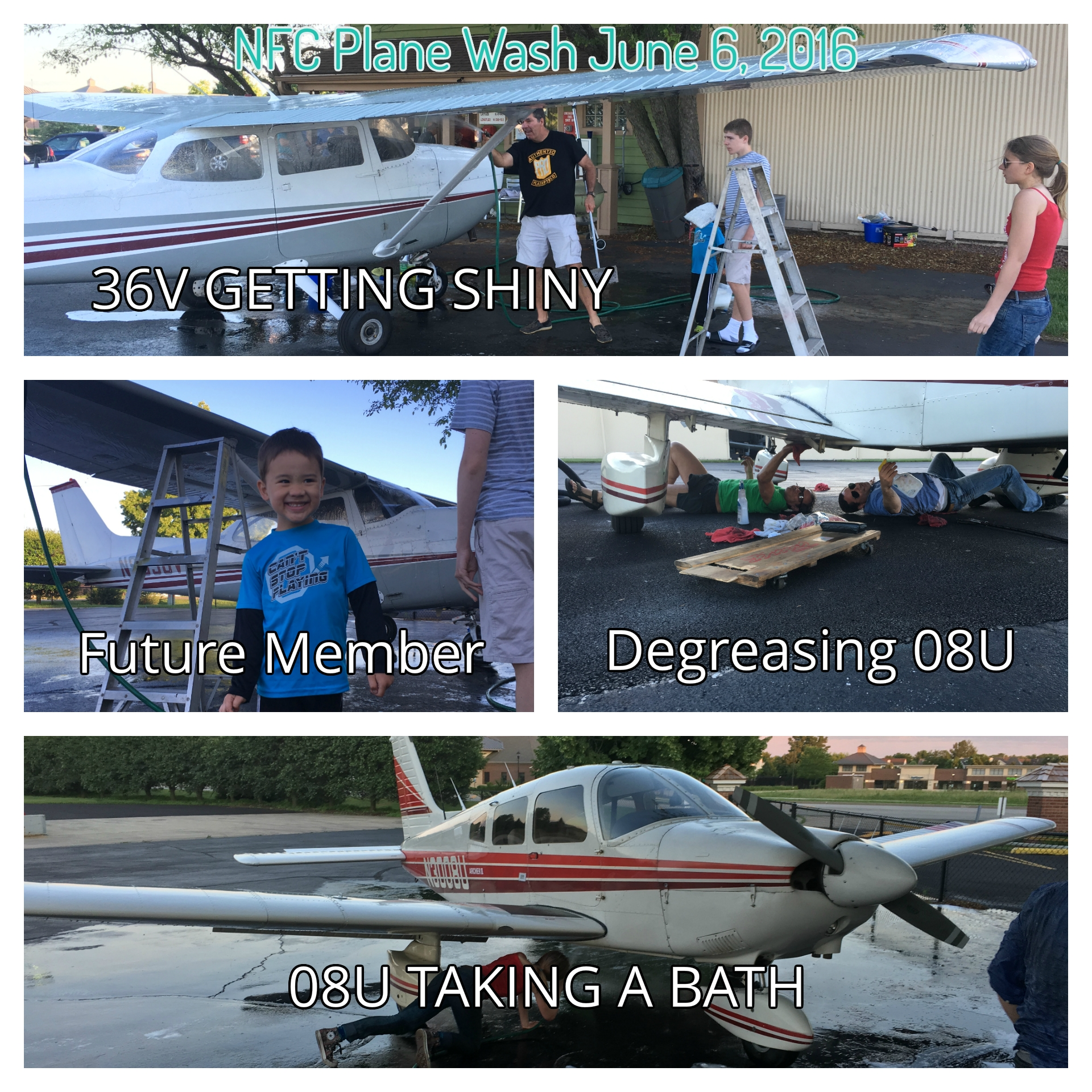 Washing our planes